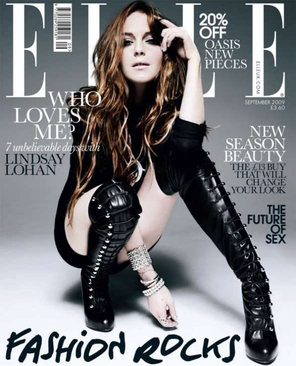 Lindsay Lohan in over-the-knee boots