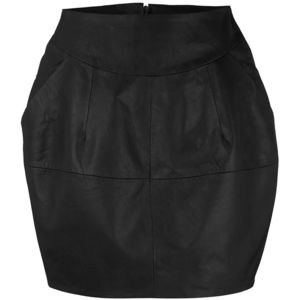 Dorothy Perkins leather barrel skirt was 60 now 30p