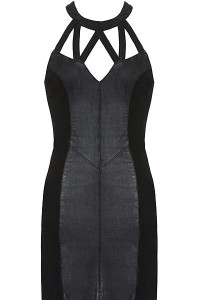 Leather Halter Bodydress at chickdowntown.com 230doll