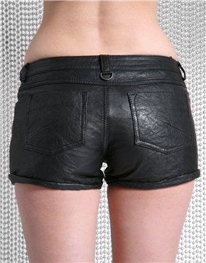 muubaa Cropped Leather Hotpants 70p 113d asos