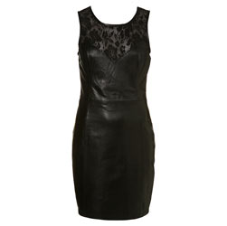 TopShop Lace leather bodycon 100 or 161